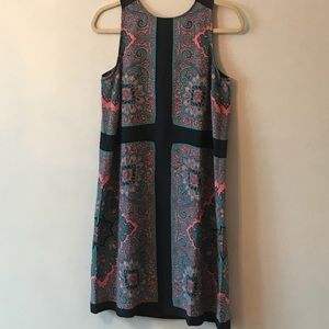 LOFT paisley knee length dress size M